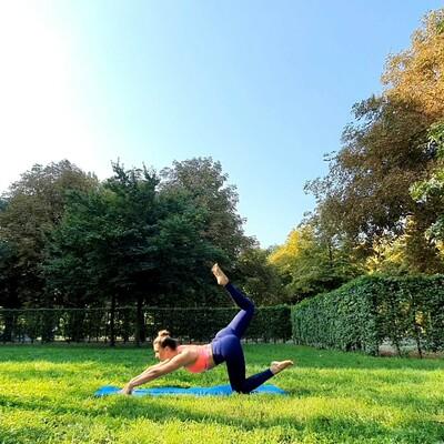 Yogawiese obere alte Donau - hinter dem Angelibad