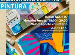 Contemporary Art: Painting + wine + practice your spanish (€15)