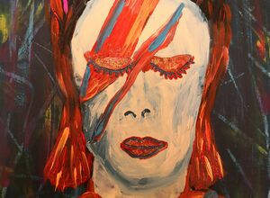 """Painting and Wine """"David Bowie"""" night with Emma"""